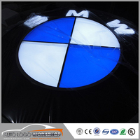 Chrome Silver Injection Molding PC Plate Illuminated Car Signs