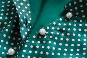 Image 5 - プリンセスケイトミドルトンのドレス 2019 女性のドレス春の弓ネック長袖水玉エレガントなドレス作業服 NP0233J