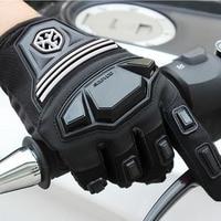 2018 New Spring SCOYCO Motorcross Motorcycle Gloves MC24 Full Finger Motorbike Glove Made Of Elastic Leica