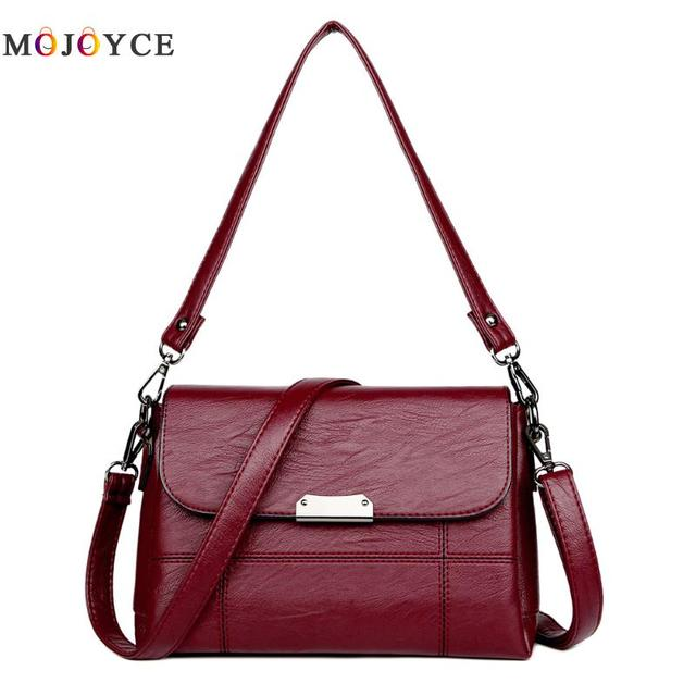 Vintage Designer Women Leather Handbags Adjustable Shoulder Bags Fashion  Ladies Crossbody Bag bolsa feminina 962c57733408b