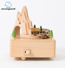 Strongwell Music Box Wooden Roller Coaster Girlfriend Gift Craft Gift Home Decoration Creative