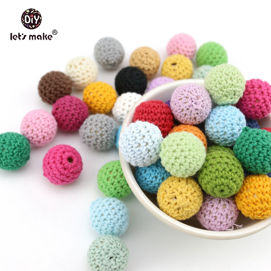 Vamos a hacer Baby teether crochet Cuentas 80 unids/lote 16mm (0.62 ...