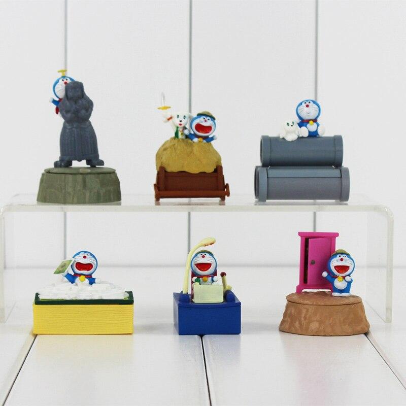 New 6pcs/set Japanese Doraemon Nobi Nobitas Magic Land Action figure toys Christmas Gifts