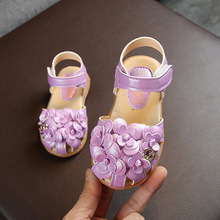 2019 Summer Childrens Flower Sandals Baby Girls Beach Little Leather Shoes Student Soft Bottom Brown Shoe