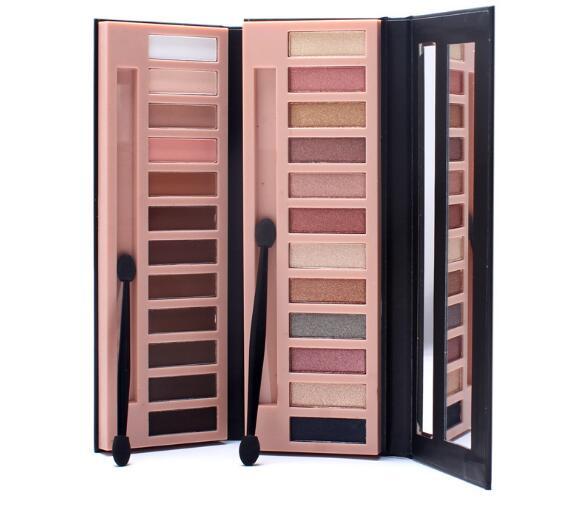 High Quality 12 Color Shimmer Glitter Eye Shadow Powder Matt Eyeshadow Cosmetic Makeup Waterproof Eyeshadow Makeup with brush