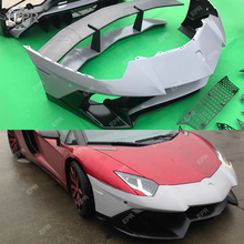 For LAMBORGHINI LP700 LP720 FRP Glass Fiber Front Bumper Body Kits Trim Accessories Aventador 750SV Style For LP700 LP720 Bumper цена