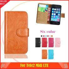 Tele2 Midi LTE Case Factory Direct! 6 Colors Dedicated Leather Exclusive Special Phone Cover Crazy Horse Cases+Tracking tele2 sim карта tele2 оранжевый
