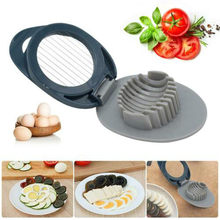 1 Pcs Telur Manis Pidan Splitter Steel Telur Cut Slicer ABS Alat Inovatif Mewah(China)