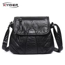 цена на Crossbody bag Designer Women Messenger Bags Crossbody Soft PU Leather Shoulder Bag High Quality Fashion Women Bags Handbags