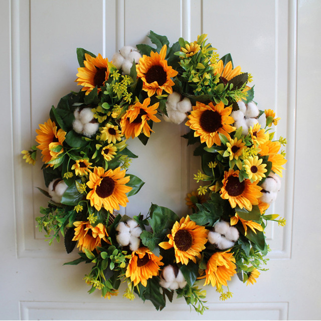 Aliexpress Com Buy Summer Simulation Sunflower Garland Welcome