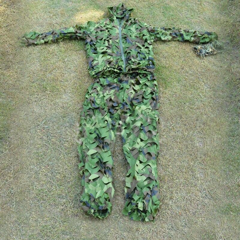 Camo Dschungel Sniper Ghillie Anzug Neue hohe qualität Jagd 3D Blatt Camouflage Kleidung Screening und baum stehen