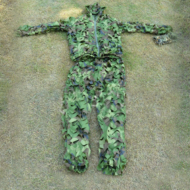 Camo <font><b>Jungle</b></font> Sniper Ghillie Suit New high quality Hunting 3D Leaf Camouflage Clothing Screening and tree stand image