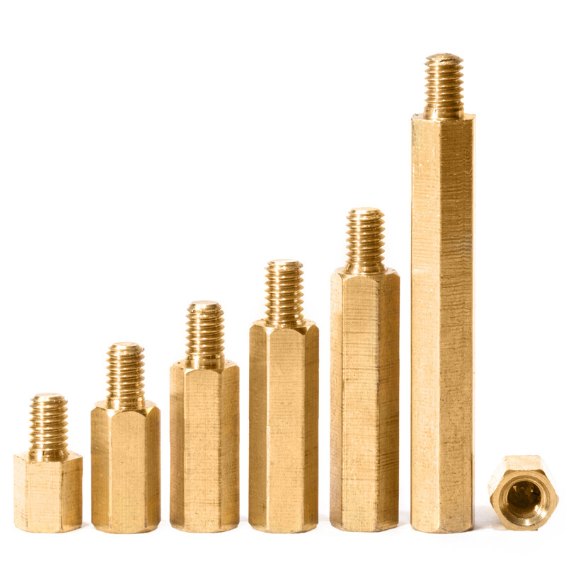 M4xL 6mm Hex Brass Male Female Standoff Pillar Thread Hexagon Computer PCB PC Mount Spacer Motherboard Bolt Screw M4 in Screws from Home Improvement