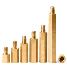 M4xL+6mm Hex Brass Male Female Standoff Pillar Thread Hexagon Computer PCB PC Mount Spacer Motherboard Bolt Screw M4 m2 brass male female standoff pillar mount threaded pcb motherboard pc computer round spacer hollow bolt screw long nut