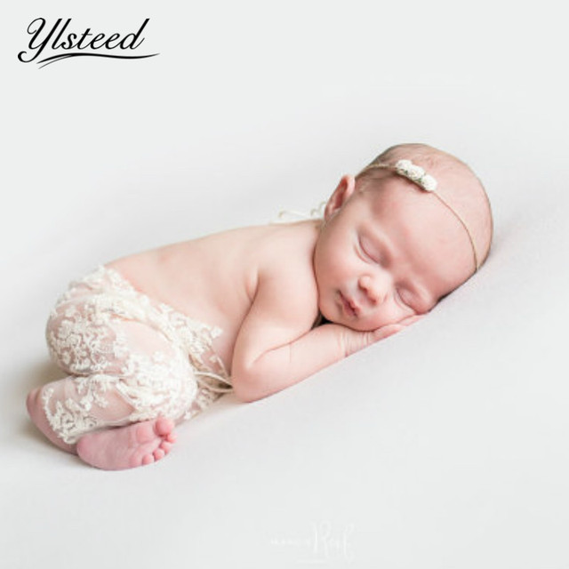 White baby lace floral romper baby outfit props infant photo props embroidery floral vintage newborn photoshoot