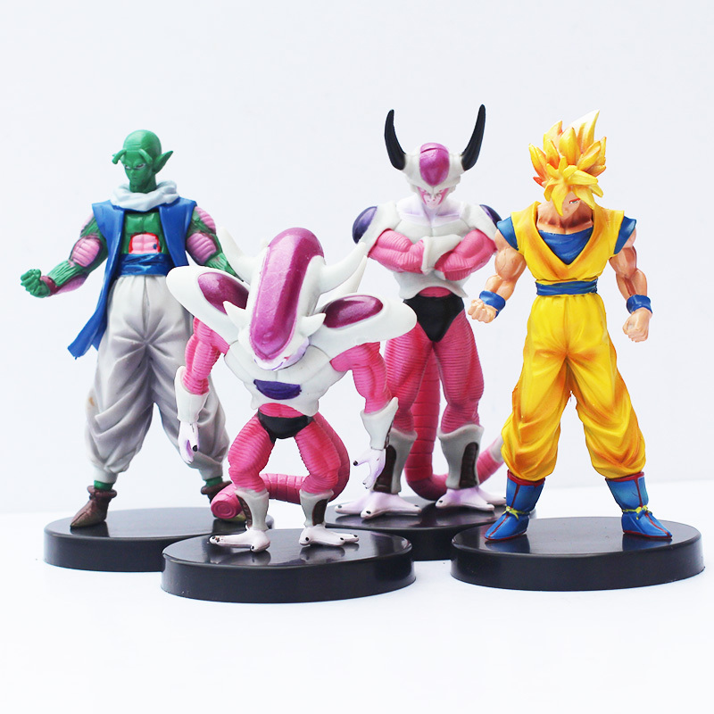 4pcs/set Dragon Ball Z Freezer Freeza Piccolo Goku PVC Figure Action Toy Free Shipping how to train your dragon 2 dragon toothless night fury action figure pvc doll 4 styles 25 37cm free shipping retail
