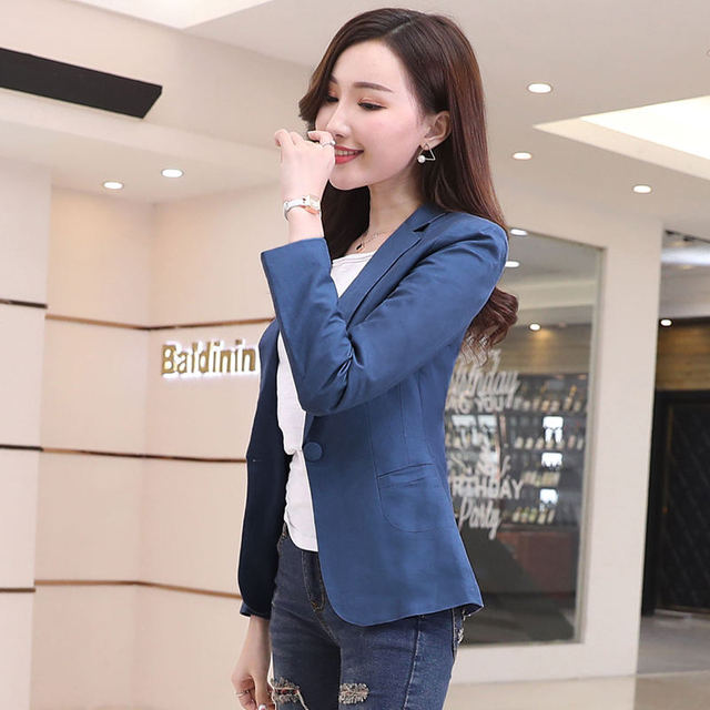 Small Suit Jacket Women 2019 Cotton And Linen Blazer Feminino Spring