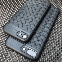 100PCS Lot Luxury Slim Soft Silicone TPU Weave Leather Back Cover Case For IPhone 6 6S