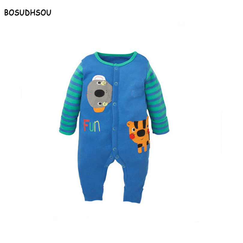 Bosudhsou dm-24 Newborn Baby Boy Winter Clothes Cotton Full Sleeve Rompers Soft Infant girl Children Clothing Set Jumpsuits baby rompers long sleeve baby boy girl clothing jumpsuits children autumn clothing set newborn baby clothes cotton baby rompers