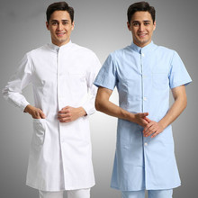 Dental Clinic Long-Sleeve Winter Wear Doctor Short-Sleeve Summer Chinese Collar White TCM Work Dreadlocks