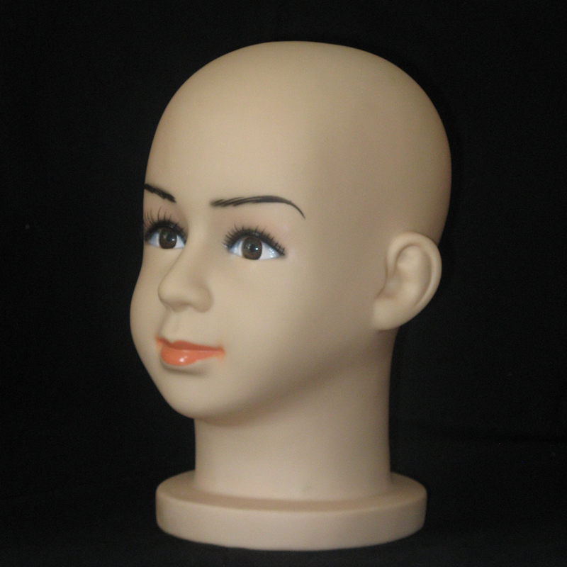 Displaying cap mannequin head Dummy Baby Boy Girl Head Plastic Lovely Children Mannequin Head For Hat and Wig (4)