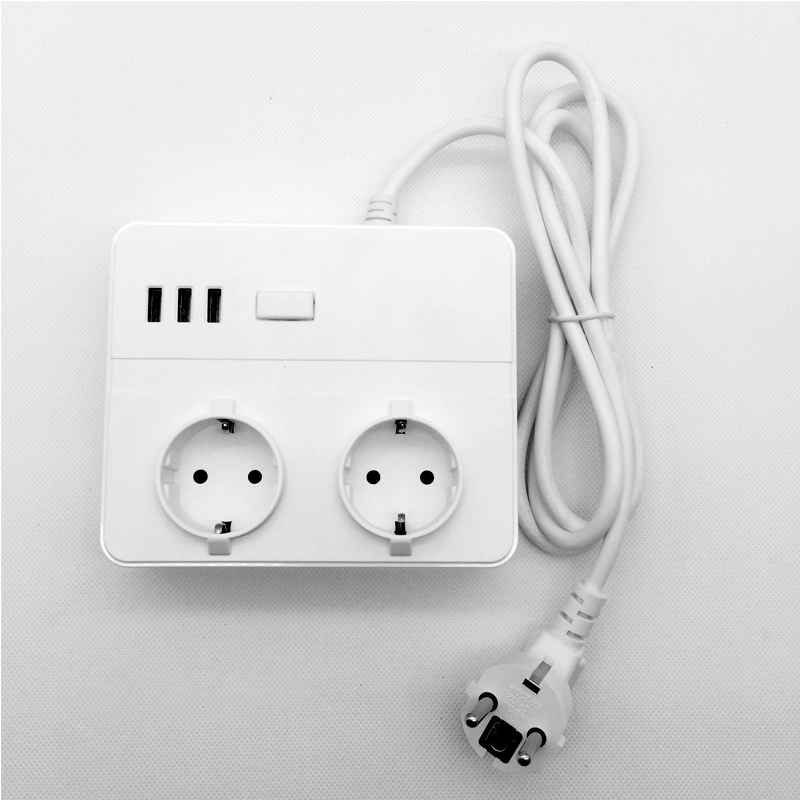 16A EU Standard Power Socket Strip Electrical Adapter 1.5M Plug Cord Wire with USB Charge Port For Office Conference Table16A EU Standard Power Socket Strip Electrical Adapter 1.5M Plug Cord Wire with USB Charge Port For Office Conference Table