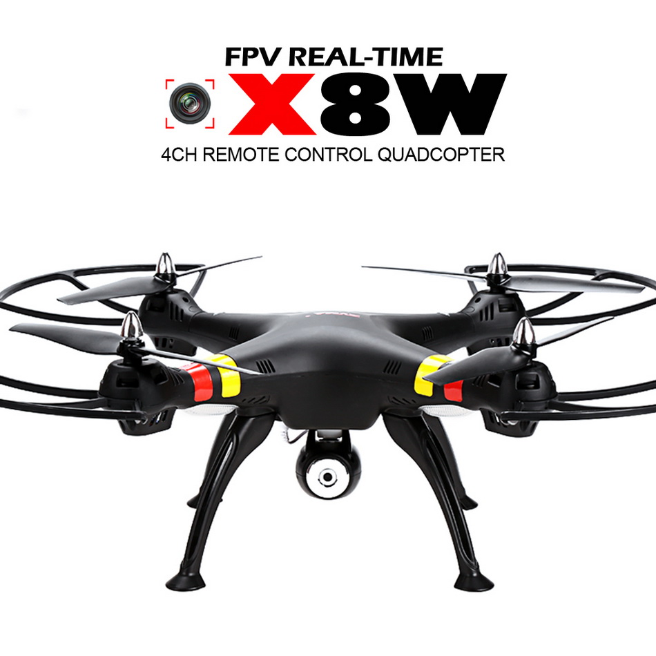 SYMA X8W RC FPV WIFI Helicopter Drone with Camera 2MP Wide Angle 2.4G 4CH 6Axis Quadcopter Adult Boy Toy Gift RTF VS X8C  yizhan tarantula x6 4 axis rc helicopter drone toy model can add wide angle 5mp or 2 mp camera with long remote distance 300m