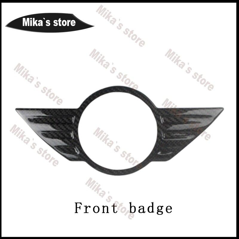 Autocollant en fibre de carbone décoration extérieure emblème insigne avant arrière pour MINI COOPER countryman R61 R60 autocollant de carrosserie