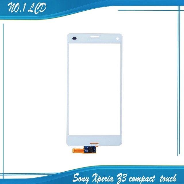 Оригинальный Белый Сенсорная Панель Для Sony Xperia Z3 Compact Z3 Mini D5803 Передняя Сенсорный Стеклянный Объектив С Датчиком Экран Digitizer