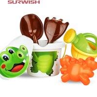 Surwish Cartoon Series Children Beach Toy Set Safety Plastic Fancy Toys Pattern Random