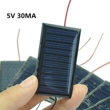 1 PC Mini güneş paneli modülü 5 V 30mA güneş hücreleri fotovoltaik modülü güneş güç
