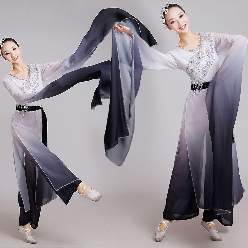 الصينية الكلاسيكية الرقص زي الإناث ملابس الرقص الوطني مظلة يانغكو ملابس الرقص المرحلة