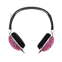 Crystal Bling Rhinestones Hi-Fi Estéreo Bajo Bass Auriculares Auriculares De Cancelación de Ruido para el iphone 7 más Oneplus 5 Xiaomi 6