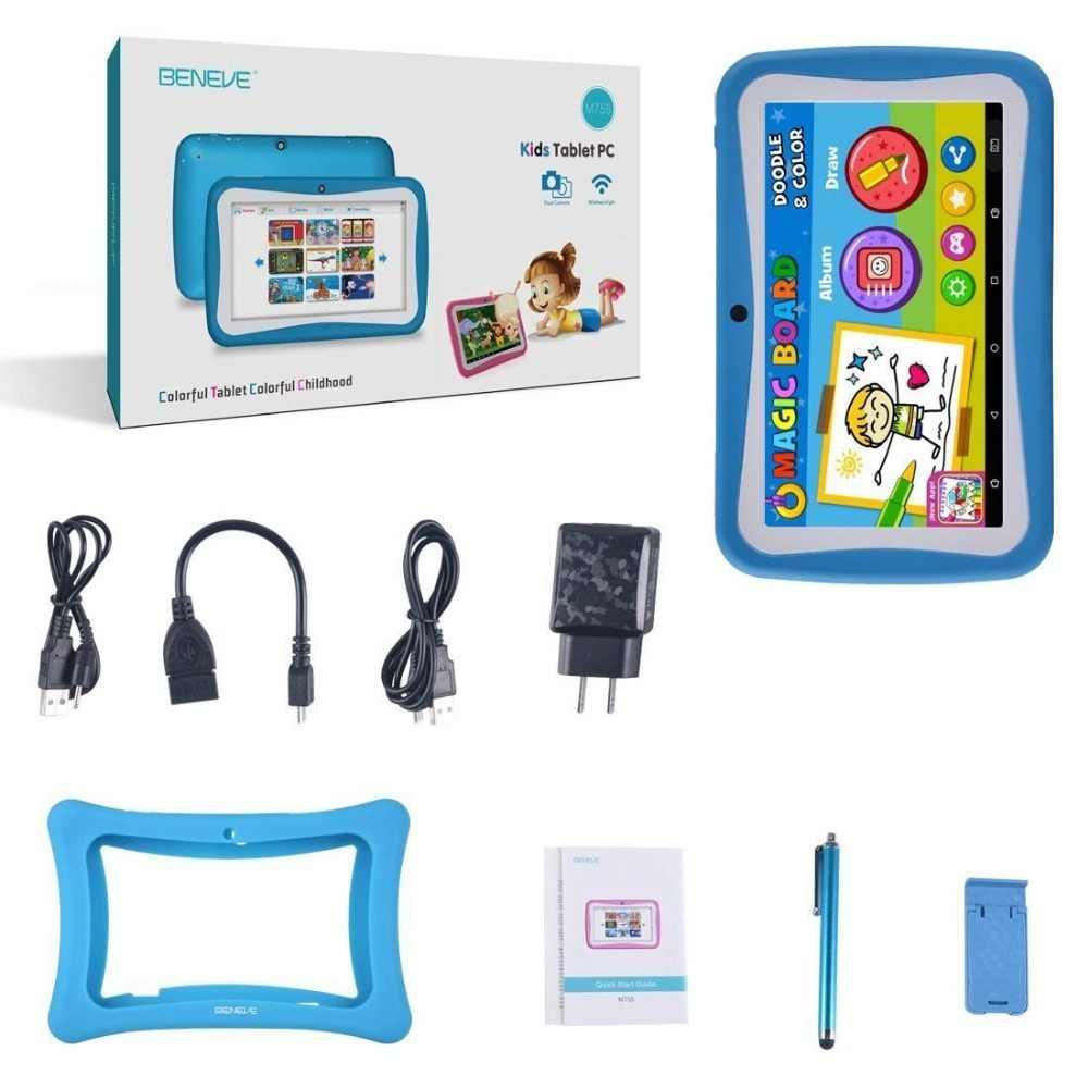 Rusland Spanje Magazijn Schip Kids Tablet 7 Inch Tablet PC Andriod 7.1 1GB RAM 8GB ROM WiFi Bluetooth kids Software Vooraf Geïnstalleerd