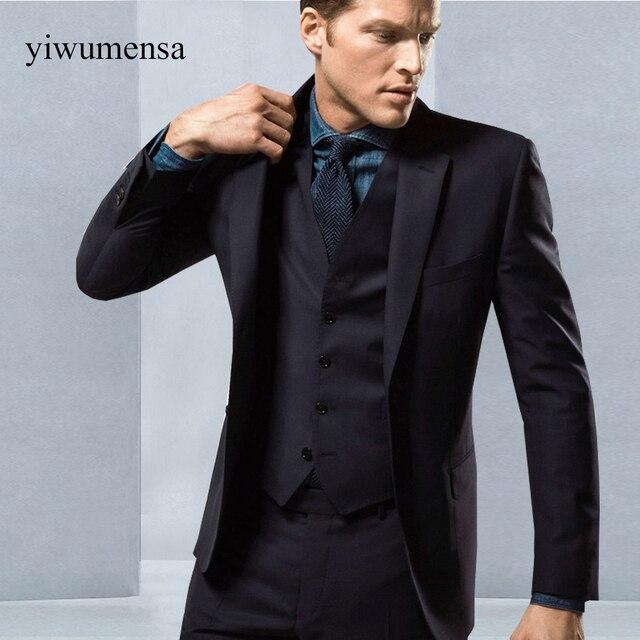 YWMS 183 New men suit 3 pieces Custom made mens tuxedo jacket ...