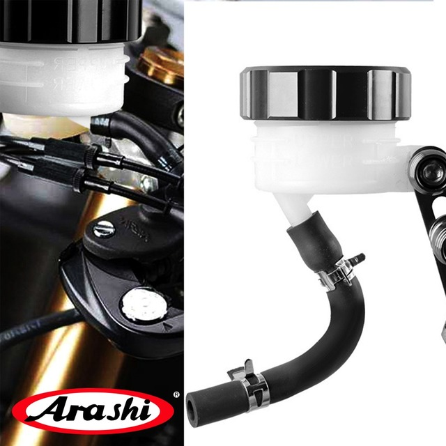 Arashi Motor Brake Pump oil cup Fluid Reservoir Clutch Tank Fluid Cup Pump Cylinder Bracket For Honda Yamaha Kawasaki Suzuki
