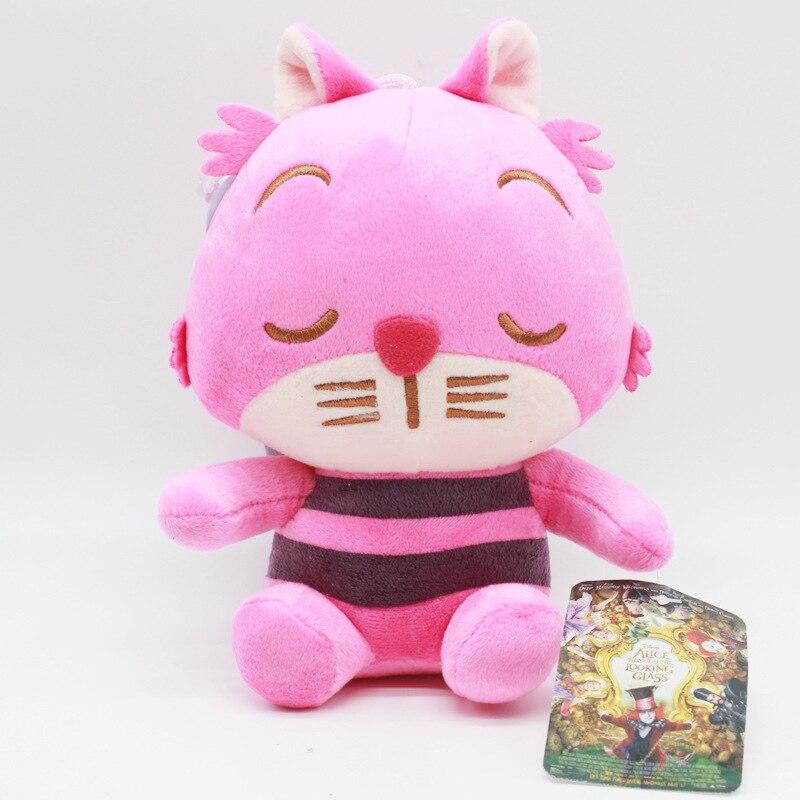 "4"" Alice in Wonderland Cheshire cat soft plush doll toy dolls anime gift  new"