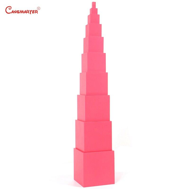 Jouets mathématiques mat rose tours blocs Cubes pour enfants 3 6 ans préscolaire enseignement aides enfants jeux jouet sensoriel formation SE003 3 - 4