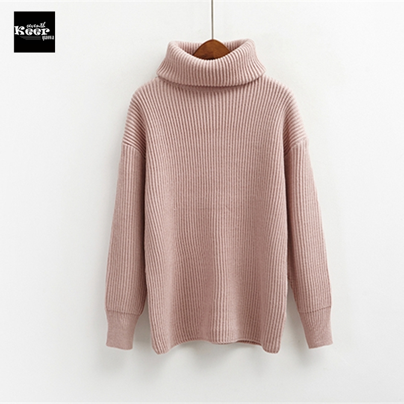 2018 New Runway Designer Basic Sweater Women Winter Pullover Knitted Sweater Top for Women Autumn Female Turtleneck Sweaters