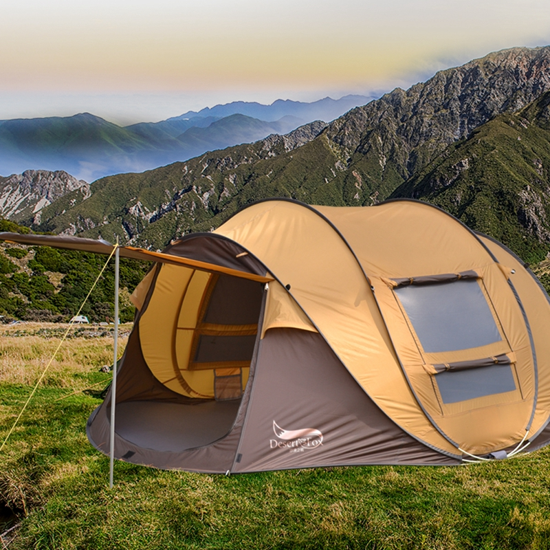 Desert&Fox Family Pop-up Tent, 3-4 Person Automatic Instant Setup 4 Season Waterproof Tent for Hiking, Camping, TravellingDesert&Fox Family Pop-up Tent, 3-4 Person Automatic Instant Setup 4 Season Waterproof Tent for Hiking, Camping, Travelling