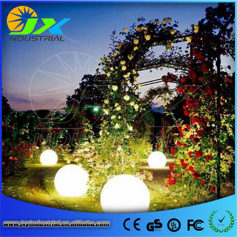 LED Plastic rgbw ball/ led Garden Courtyard Pool ball ...