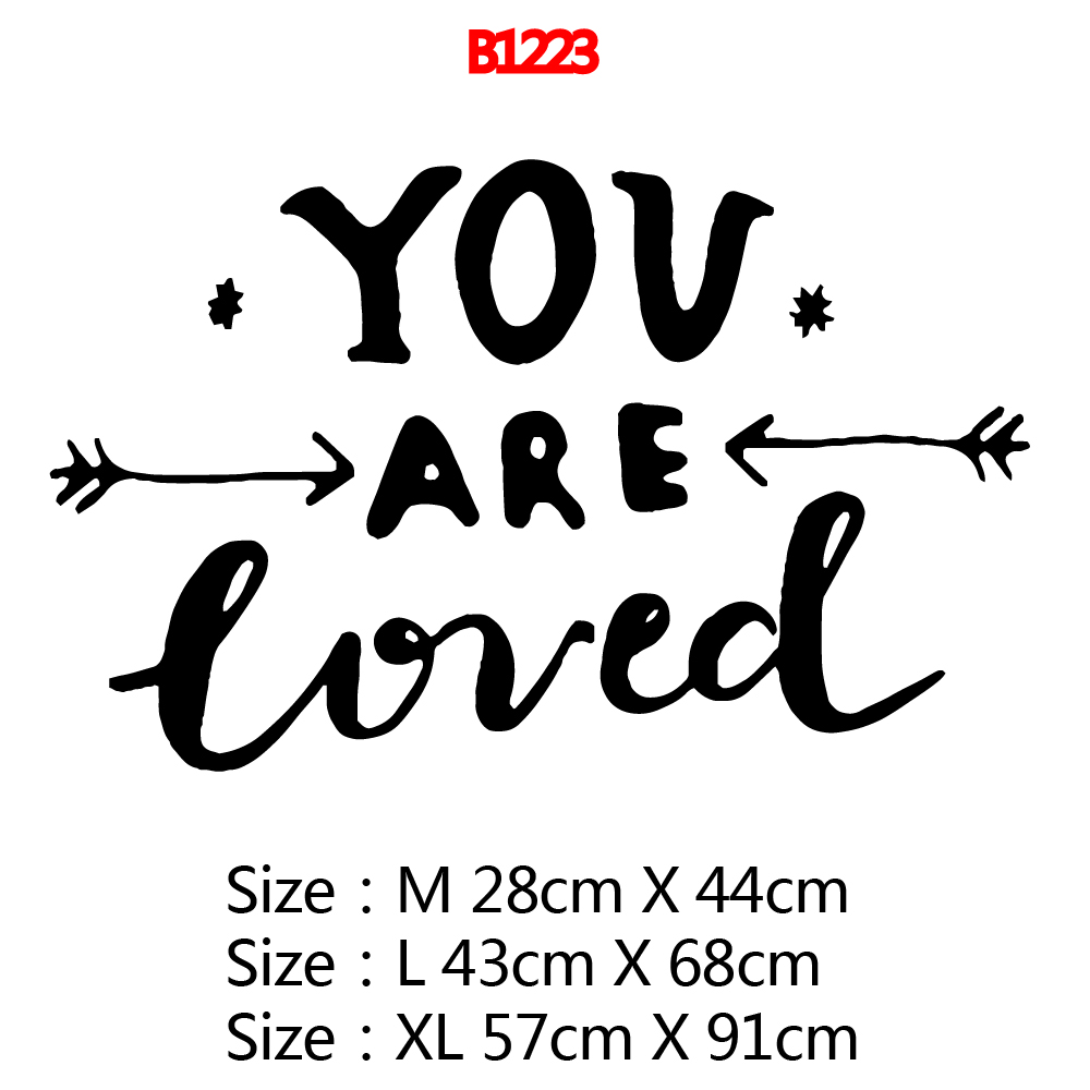 Cartoon you are loved Wall Sticker Pvc Removable For Home Decor Living Room Bedroom Sticker Mural Decorative Stickers in Wall Stickers from Home Garden