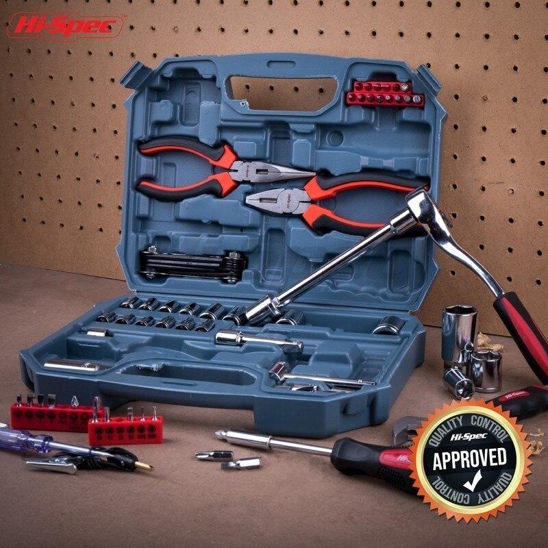 Hi-Spec 67pc ensemble d'outils à main métrique voiture Auto réparation automobile mécanique trousse à outils maison Garage clé à douille outils dans la boîte à outils - 6