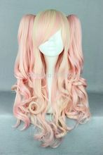 Wholesale price >>New arrival Hot pin mixed 65cm long Lolia Wavy Culry Cosplay Wig Ponytails Discount35%