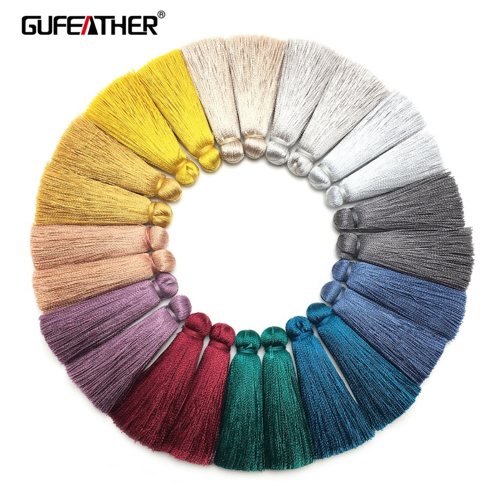 GUFEATHER L153,4cm,silk Tassels,jewelry Accessories,hand Made,jewelry Findings,charms Pendant,diy Earrings,jewelry Making,tassel