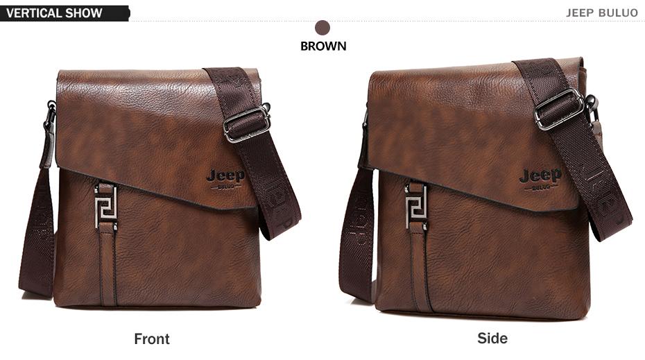 bdc2dd786c62 JEEP BULUO модные мужские сумки непромокаемые из яловичного спилка сумка-мессенджер  деловой портфель сумки через плечо мужская сумка на плечо 5846
