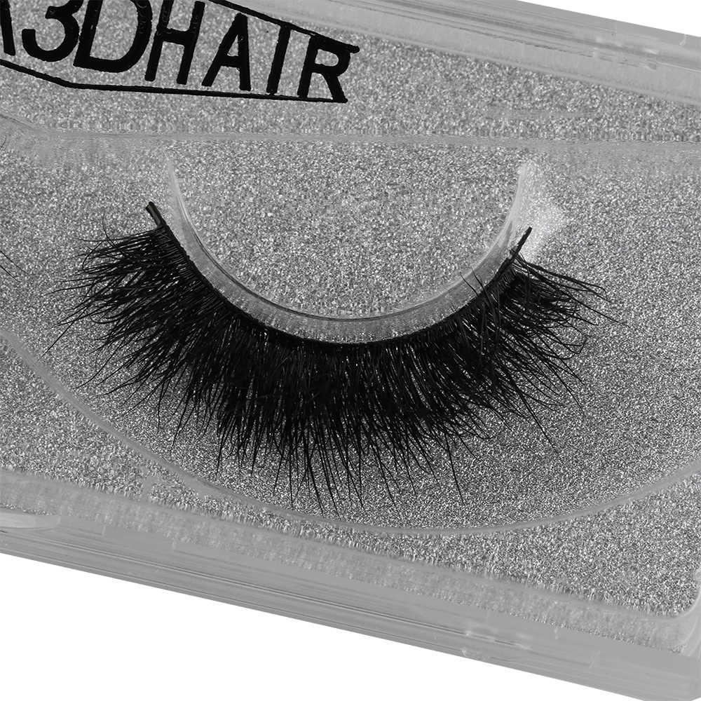 1 paar Y-30 100% 3D Nerz Haar Buschigen Kreuz Falsche Wimpern Wispy Flattern Auge Peitsche Handgemachte Schwarz Make-Up Verlängerung Werkzeuge