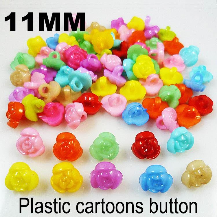 АКЦИЯ 100 шт смешанные формы много цветов Сделай Сам Скрапбукинг Мультяшные кнопки пластиковые кнопки детская одежда швейные принадлежности P-001 - Цвет: 7