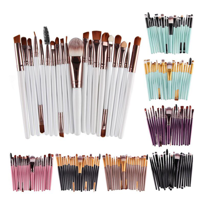 20pcs/set eye makeup brushes eyebrow lip concealer blush pincel maquiagem Mascara Lip Makeup Brush Set learnever makeup set eye shadow eyeliner liquid eyebrow pencil mascara powder cake foundation lipstick blush concealer maquiagem