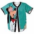 Engraçado gog baseball jerseys new hip hop streetwear eua tamanho botões clothing homme camisa marca de impressão 3d